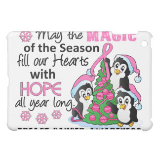 Christmas Penguins Breast Cancer Case For The iPad Mini