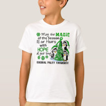 Christmas Penguins Cerebral Palsy T-Shirt