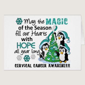 Christmas Penguins Cervical Cancer Card