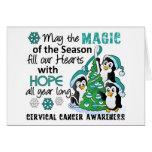 Christmas Penguins Cervical Cancer Greeting Cards