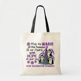 Christmas Penguins Chiari Malformation Canvas Bag