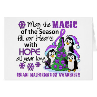 Christmas Penguins Chiari Malformation Card