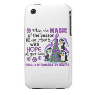 Christmas Penguins Chiari Malformation iPhone 3 Case-Mate Case