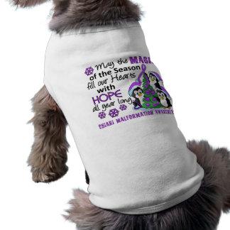 Christmas Penguins Chiari Malformation Dog Tshirt