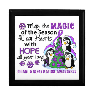 Christmas Penguins Chiari Malformation Jewelry Boxes