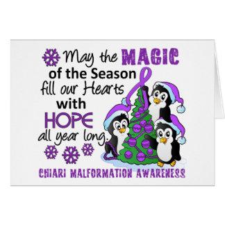 Christmas Penguins Chiari Malformation Greeting Card