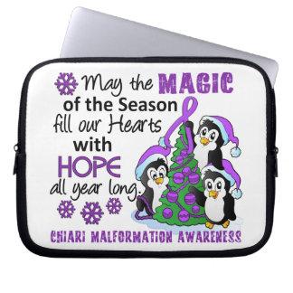 Christmas Penguins Chiari Malformation Laptop Computer Sleeves
