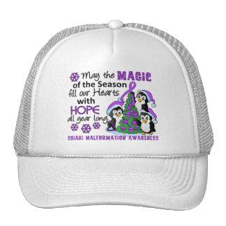 Christmas Penguins Chiari Malformation Mesh Hat