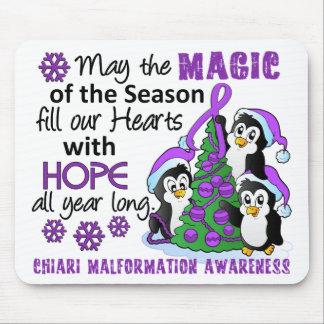Christmas Penguins Chiari Malformation Mouse Pad