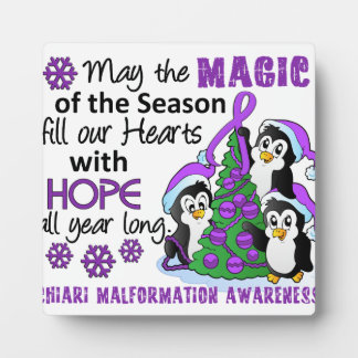 Christmas Penguins Chiari Malformation Plaque