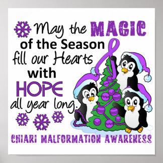 Christmas Penguins Chiari Malformation Poster