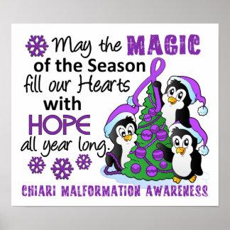 Christmas Penguins Chiari Malformation Print