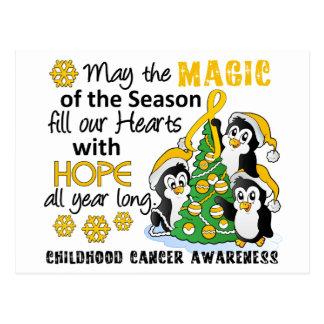 Christmas Penguins Childhood Cancer Post Card