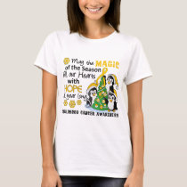 Christmas Penguins Childhood Cancer T-Shirt