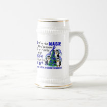 Christmas Penguins Chronic Fatigue Syndrome CFS Beer Stein