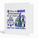 Christmas Penguins Chronic Fatigue Syndrome CFS 3 Ring Binders