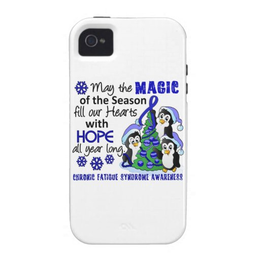 Christmas Penguins Chronic Fatigue Syndrome CFS iPhone 4/4S Cases