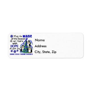 Christmas Penguins Chronic Fatigue Syndrome CFS Return Address Label