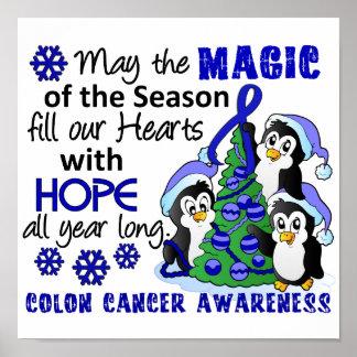Christmas Penguins Colon Cancer Poster