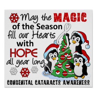 Christmas Penguins Congenital Cataracts Print