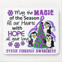 Christmas Penguins Cystic Fibrosis Mouse Pad