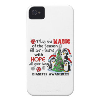 Christmas Penguins Diabetes iPhone 4 Covers