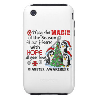 Christmas Penguins Diabetes Tough iPhone 3 Cases