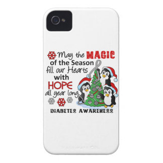 Christmas Penguins Diabetes iPhone 4 Cases