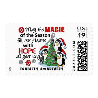 Christmas Penguins Diabetes Postage