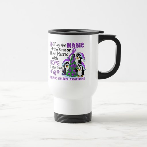 Christmas Penguins Domestic Violence Coffee Mug