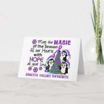Christmas Penguins Domestic Violence Holiday Card