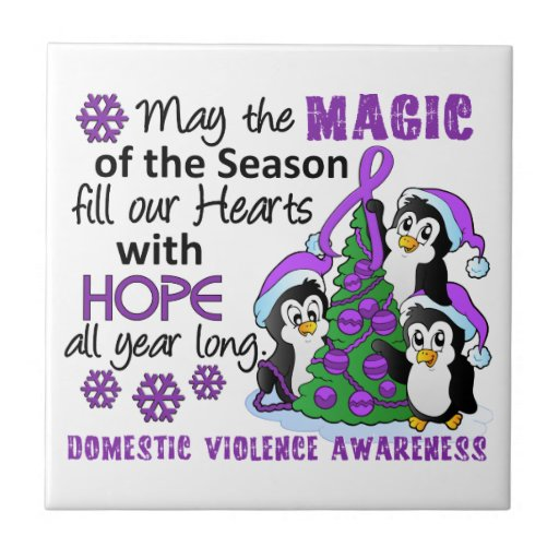 Christmas Penguins Domestic Violence Tiles