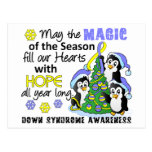 Christmas Penguins Down Syndrome Post Card