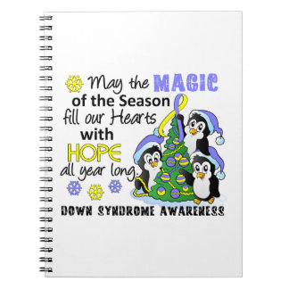 Christmas Penguins Down Syndrome Spiral Note Books