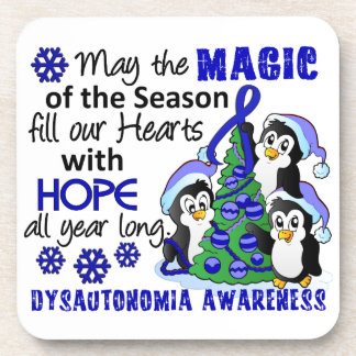 Christmas Penguins Dysautonomia Beverage Coaster