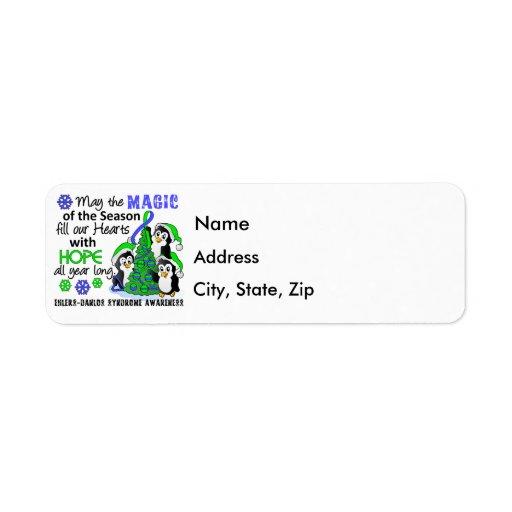 Christmas Penguins Ehlers Danlos Syndrome EDS Return Address Label