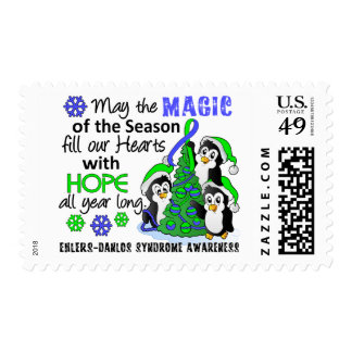 Christmas Penguins Ehlers Danlos Syndrome EDS Stamp