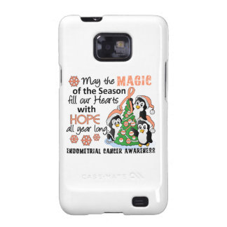 Christmas Penguins Endometrial Cancer Galaxy SII Covers