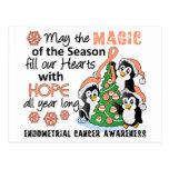 Christmas Penguins Endometrial Cancer Postcards