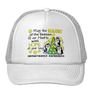 Christmas Penguins Endometriosis Mesh Hats