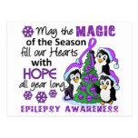 Christmas Penguins Epilepsy Post Cards