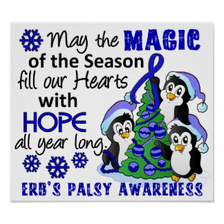 Christmas Penguins Erb's Palsy Posters