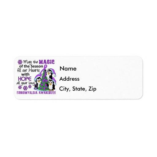 Christmas Penguins Fibromyalgia Custom Return Address Label