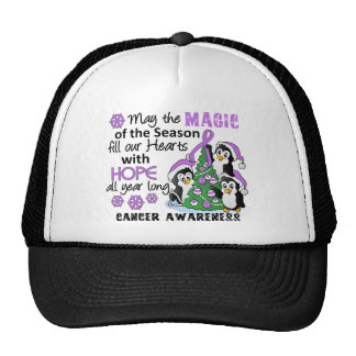 Christmas Penguins General Cancer Trucker Hats