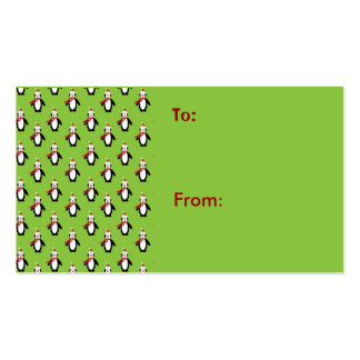 Christmas Penguins Gift Card Business Cards