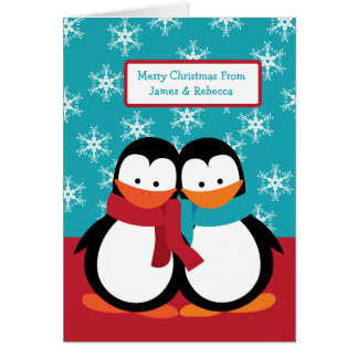 Christmas Penguins Greeting Cards