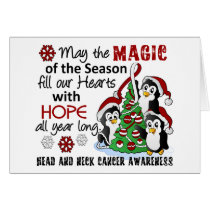 Christmas Penguins Head and Neck Cancer Card