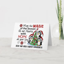 Christmas Penguins Head and Neck Cancer Holiday Card