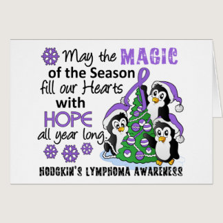 Christmas Penguins Hodgkin's Lymphoma Card