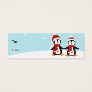 Christmas Penguins Holiday Gift Tag